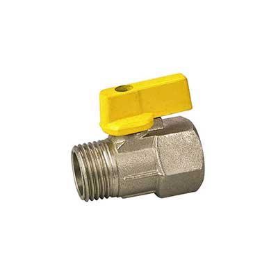 Nickel Plated Aluminum Or Plastic Butterfly Handle FXM ISO288/1 Thread Brass Mini Ball Valves